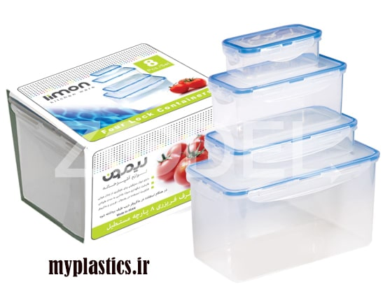 انواع ظروف پلاستیکی درب دار